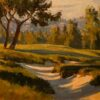 """American Legacy Fine Arts presents """"Shadows in the Sand"""" a painting by Michael Obermeyer."""