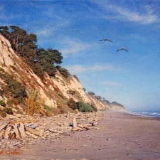 "American Legacy Fine Arts presents ""La Mesa Beach"" a painting by Alexander V. Orlov."