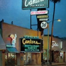 """American Legacy Fine Arts presents """"Canter's, Fairfax"""" a painting by Alexander V. Orlov."""
