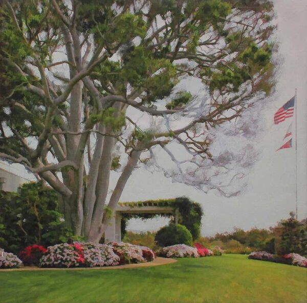 """American Legacy Fine Arts presents """"The tree; Los Angeles"""" a painting by Alexander V. Orlov."""