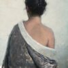 "American Legacy Fine Arts presents ""Pilar in Grey Kimono"" a painting by Jeremy Lipking."
