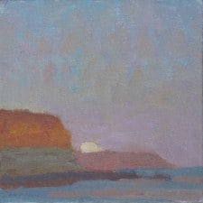 """American Legacy Fine Arts presents """"Coastal Transitions-June Moon Effect"""" a painting by Daniel W. Pinkham."""