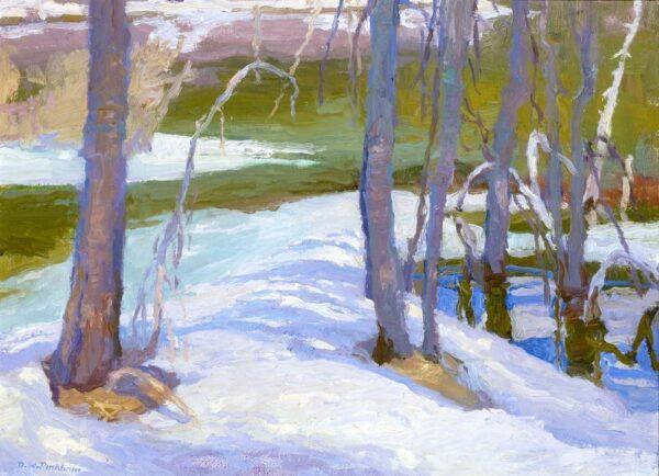 "American Legacy Fine Arts presents ""Spring Thaw; Eastern Sierra"" a painting by Daniel W. Pinkham."
