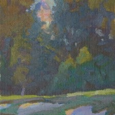 """American Legacy Fine Arts presents """"Afternoon Crescendo"""" a painting by Daniel w. Pinkham."""