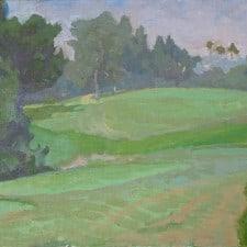 "American Legacy Fine Arts presents ""Haze on Five"" a painting by Daniel W. Pinkham."