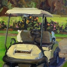 """American Legacy Fine Arts presents """"North Course Ride"""" a painting by Scott W. Prior."""