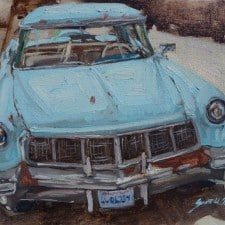"""American legacy Fine Arts presents """"One Sweet Ride"""" a painting by Scott W.Prior."""