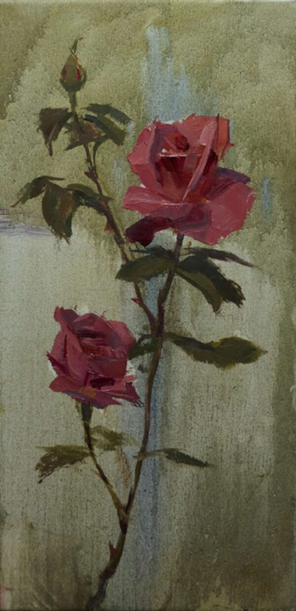 """American Legacy Fine Arts Presents """"Thompson Roses"""" a painting by Tony Pro."""