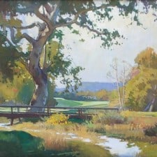 """American Legacy Fine Arts Presents """"Sycamore Near Number 2 Hole"""" a painting by Ray Roberts."""