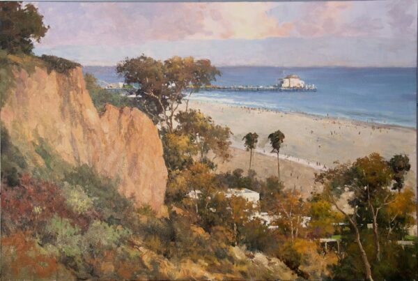 """American Legacy Fine Arts presents """"Santa Monica Afternoon"""" a painting by Junn Roca."""