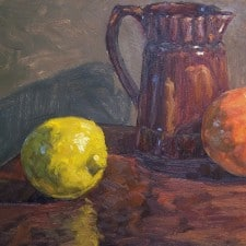 """American Legacy Fine Arts presents """"California Citrus"""" a painting by Scott W. Prior."""