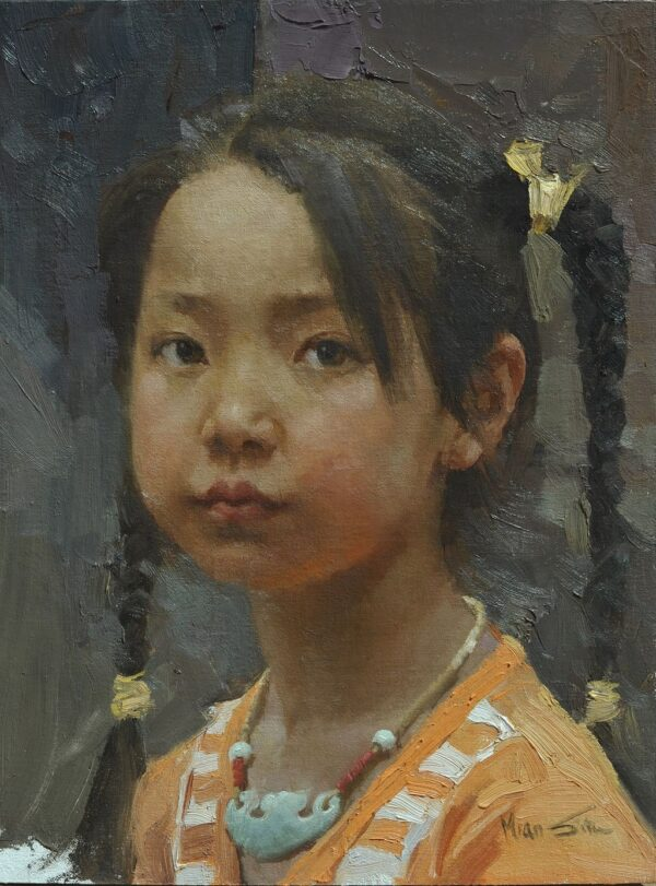 """American Legacy Fine Arts presents """"Long Life Luck"""" a painting by Mian Situ."""