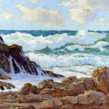 """American Legacy Fine Arts presents """"A Blustery Day, Palos Verdes"""" a painting by Stephen Mirich."""