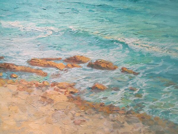 """American Legacy Fine Arts presents """"Abalone Cove Shoreline"""" a painting by Stephen Mirich."""