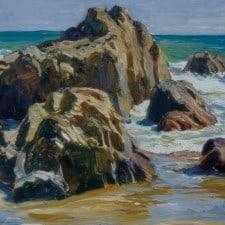 "American Legacy Fine Arts presents ""Malibu Coastline"" a painting by Tim Solliday."