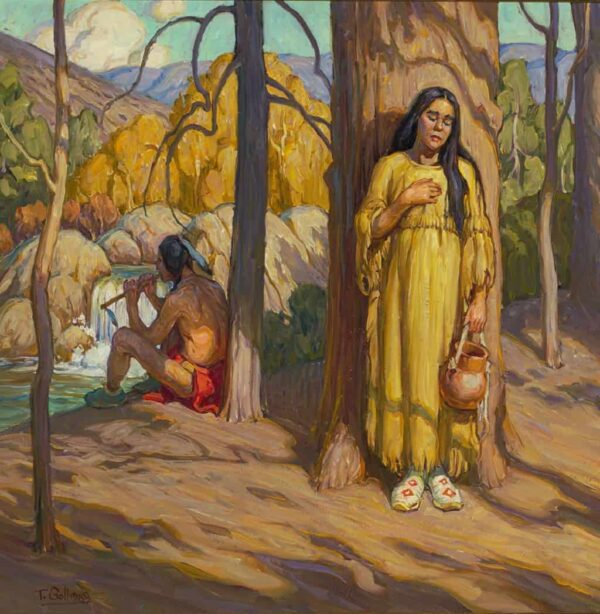 """American Legacy Fine Arts presents """"Woodland Flute"""" a painting by Tim Solliday."""