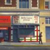 """American Legacy Fine Arts presents """"Pizza by the Slice"""" a painting by Tony Peters."""
