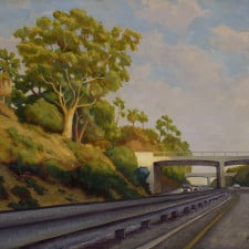 """American Legacy Fine Arts presents """"Light and Shadow; Arroyo Freeway"""" a painting by Tony Peters."""