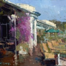 """American Legacy Fine Arts presents """"Clubhouse"""" a painting by Jove Wang."""