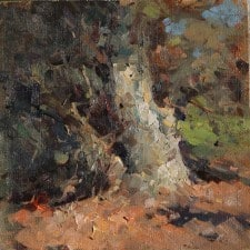 """American Legacy Fine Arts presents """"Old Tree"""" a painting by Jove Wang."""