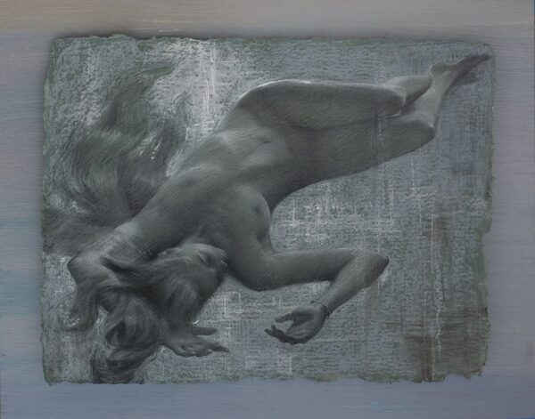 """American Legacy Fine Arts presents """"Floating Dream II"""" a drawing by Alexey Steele."""