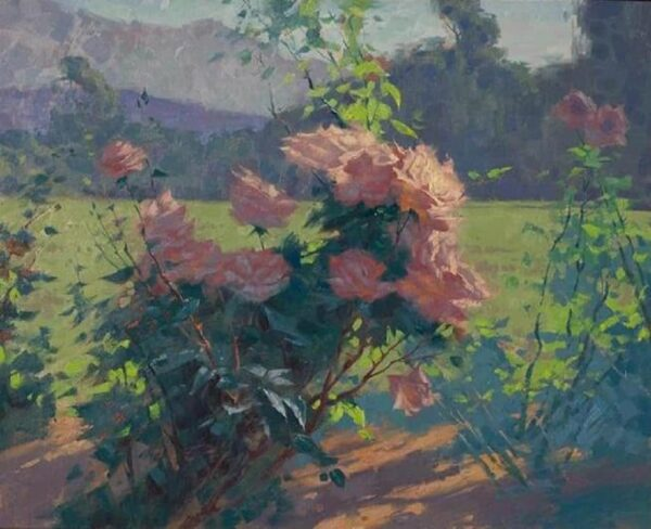 """American Legacy Fine Arts presents """"Roses; Los Angeles"""" a painting by Alexey Steele."""