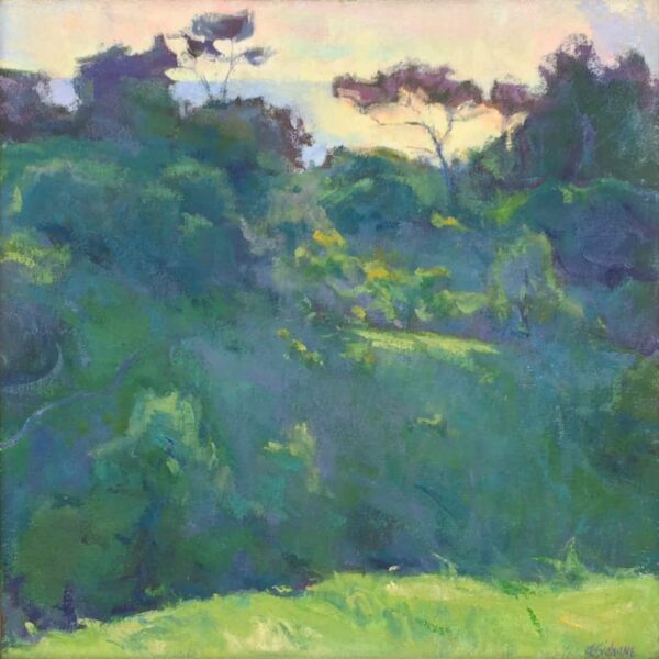 """American Legacy Fine Arts presents """"Landscape Silhouette, Portuguese Bend"""" a painting by Amy Sidrane."""