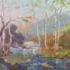"""American Legacy Fine Arts presents """"Meandering Stream, c. 1915"""" a painting by Elmer Wachtel (1864-1929)."""