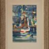 """American Legacy Fine Arts presents """"Untitled; Boats with Flags"""" a painting by Robert E. Wood (1926-1999)."""