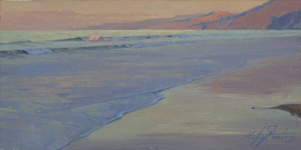 """American Legacy Fine Arts presents """"Daybreak"""" a painting by Alexey Steele."""