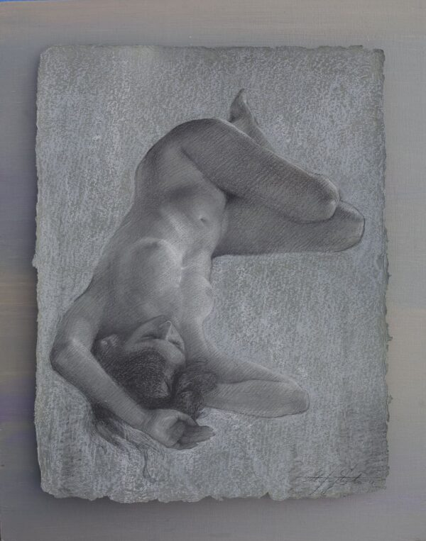 """American Legacy Fine Arts presents """"Weightless"""" a drawing by Alexey Steele."""