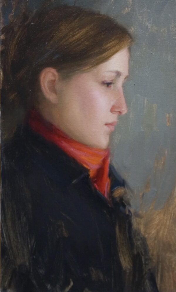 """American Legacy Fine Arts presents """"Jennifer"""" a painting by Aaron Westerberg."""