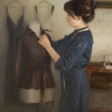 """American Legacy Fine Arts presents """"Dress Form"""" a painting by Aaron Westerberg."""