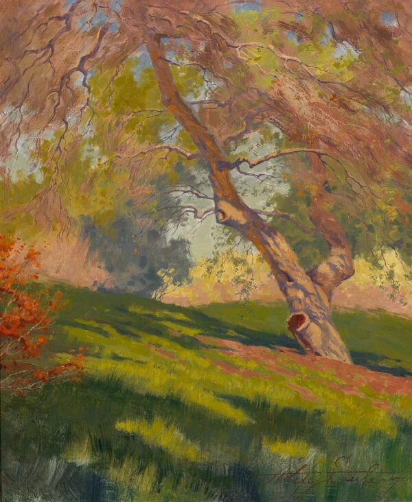 """American Legacy Fine Arts presents """"Bolero Springs Maiden; Irvine Land Preserve"""" a painting by Alexey Steele."""