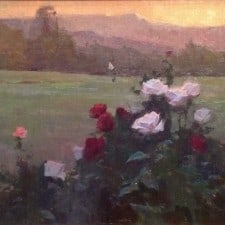"""American Legacy Fine Arts presents """"Sunrise Roses"""" a painting by Alexey Steele."""