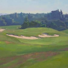 """American Legacy Fine Arts presents """"The 11th Hole' a painting by Alexey Steele."""
