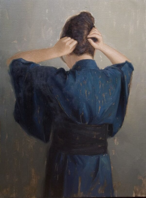 """American Legacy Fine Arts presents """"The Bridge"""" a painting by Calvin Liang."""