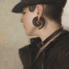 """American Legacy Fine Arts presents """"Cork Screw"""" a painting by Aaron Westerberg."""