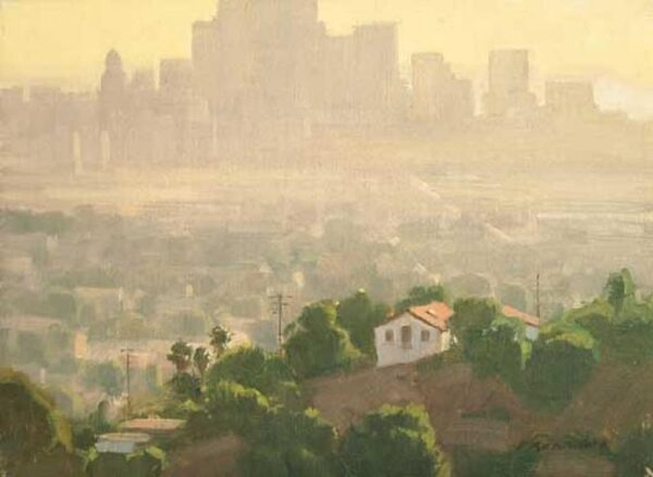 """American Legacy Fine Arts presents """"L.A. Afternoon"""" a painting by Frank Serrano."""