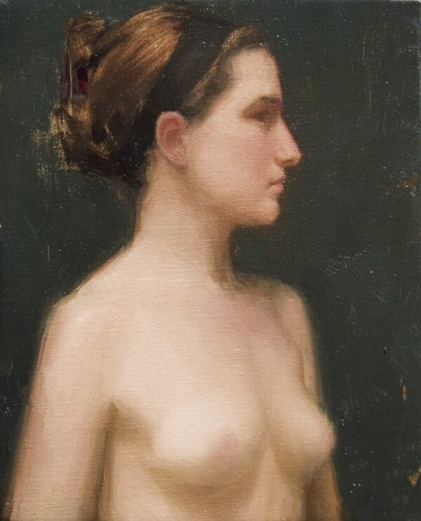 """American Legacy Fine Arts presents """"Headband"""" a painting by Aaron Westerberg."""