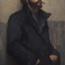 """American Legacy Fine Arts presents """"Introspect"""" a painting by Aaron Westerberg."""