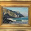 """American Legacy Fine Arts presents """"Crisp Day, Shark Harbor"""",a painting by Joseph Paquet."""