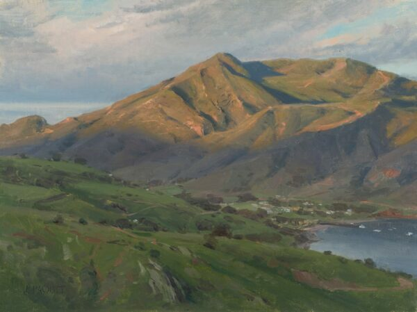 """American Legacy Fine Arts presents """"New Day for Two Harbors"""" a painting by Joseph Paquet."""
