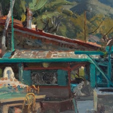 """American Legacy Fine Arts presents """"Will Richards Studio"""" a painting by Joseph Paquet."""