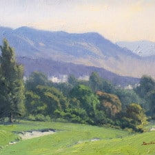 """American Legacy Fine Arts presents """"Morning Haze from Beverly Hills"""" a painting by John Budicin."""