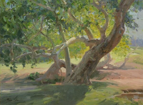 """American Legacy Fine Arts presents """"The Light and the Shadow"""" a painting by Mian Situ."""