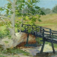 "American Legacy Fine Arts presents ""A Delightful Bridge"" a painting by Stephen Mirich."