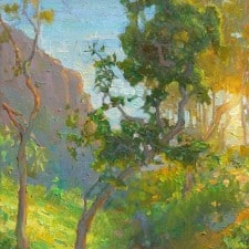 """American Legacy Fine Arts presents """"Padaro Path to the Ocean"""" a painting by Peter Adams."""