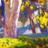 """American Legacy Fine Arts presents """"View from the Rough"""" a painting by Tim Solliday."""