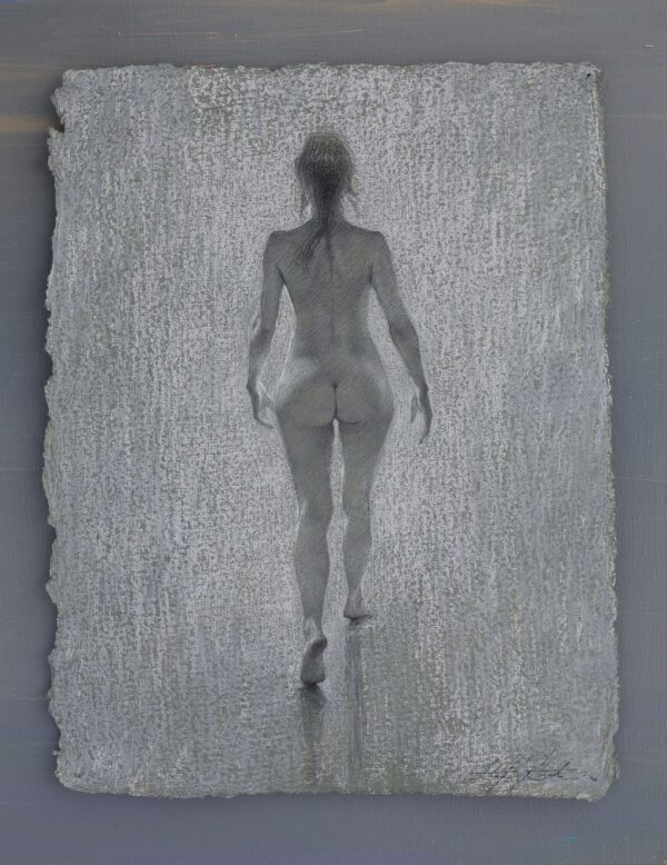 """American Legacy Fine Arts presents """"Into the Light"""" a drawing by Alexey Steele."""
